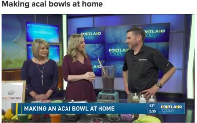 Making acai bowls at home