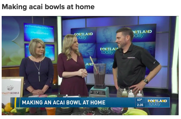 Making acai bowls at home