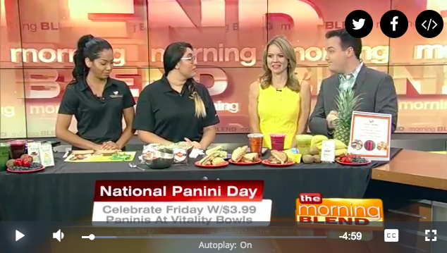 Vitality Bowls Visits The Morning Blend for National Panini Day