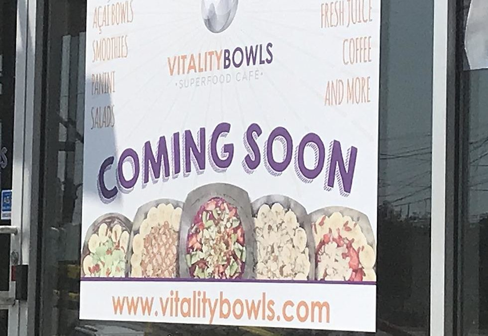 SUPERFOOD CHAIN 'VITALITY BOWLS' TO OPEN HUDSON VALLEY LOCATION