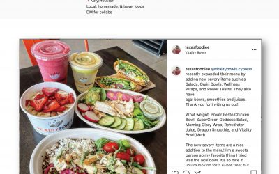 @texasfoodiee Posts About Vitality Bowls Cypress